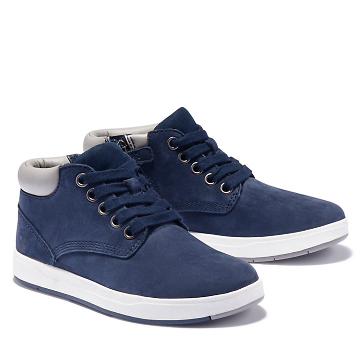 Davis Square Chukka voor Juniors in marineblauw-