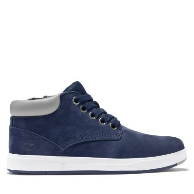 Davis+Square+Chukka+voor+Juniors+in+marineblauw