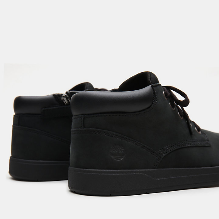 Davis Square Chukka for Junior in Black-