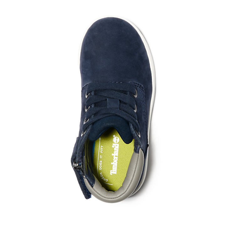 Davis Square Zip Chukka for Toddler in Navy-