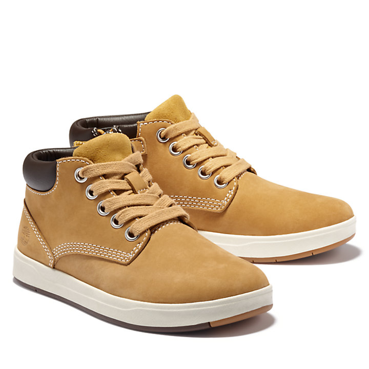 Davis Square Zip Chukka voor juniors in geel-