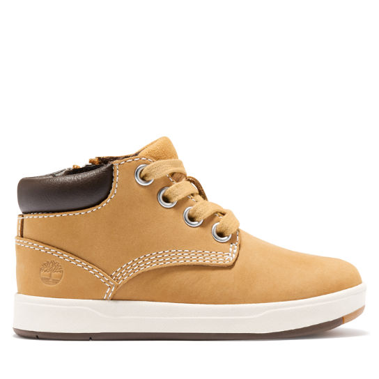 Davis Square Zip Chukka for Toddler in Yellow | Timberland