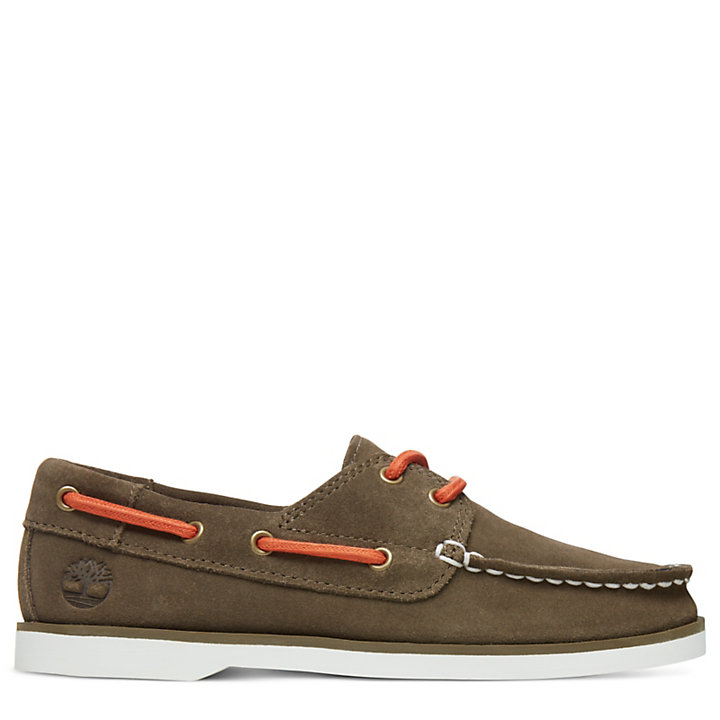 Seabury Boat Shoes for Youth in Dark Brown-