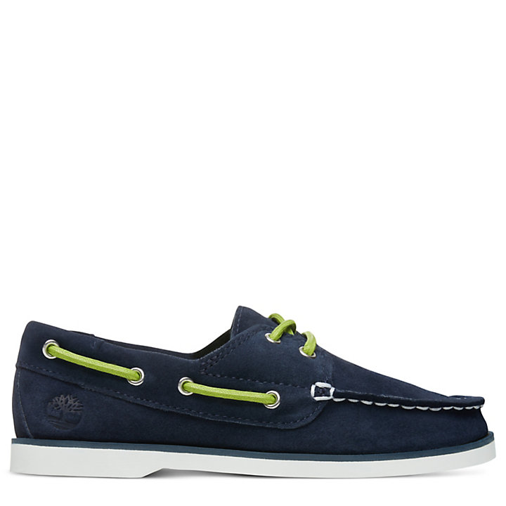 Seabury Boat Shoes for Youth in Navy-