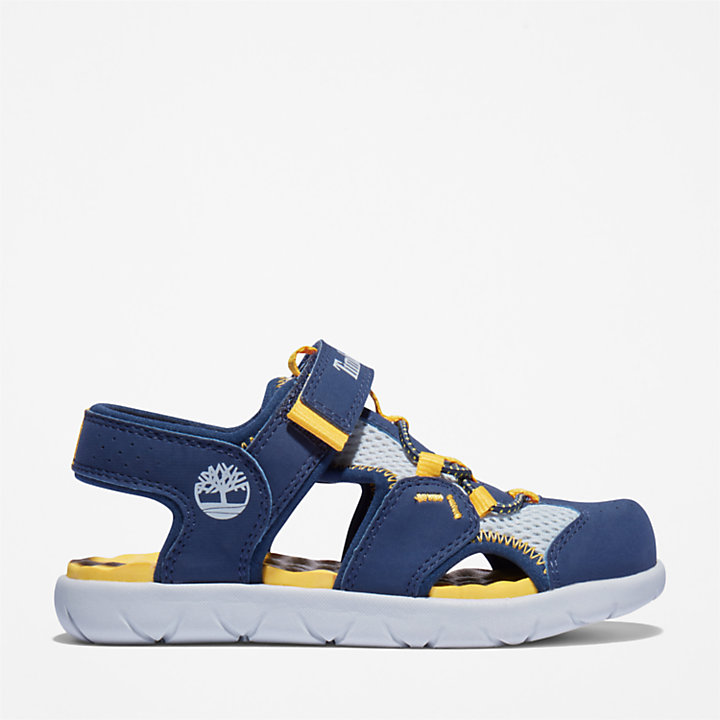 Perkins Row Fisherman Sandal for Youth in Navy-