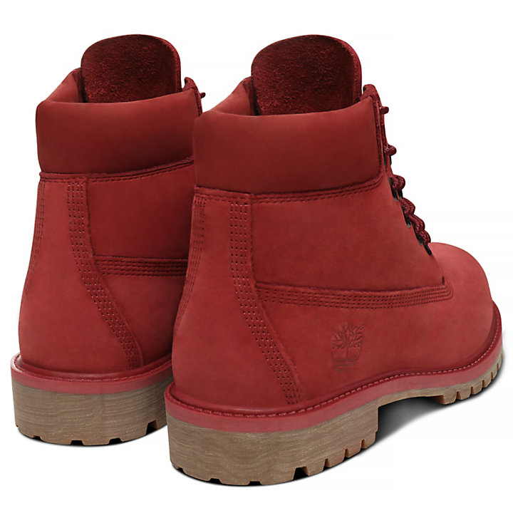 Premium 6 Inch Boot for Juniors in Red-