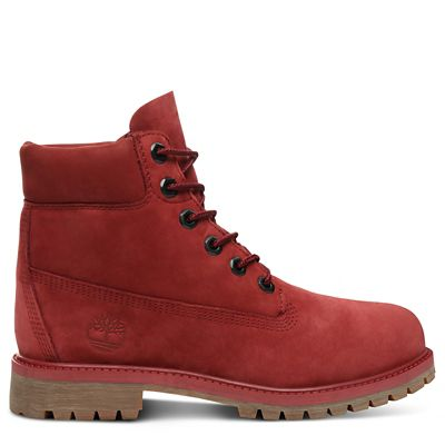 Premium+6+Inch+Boot+for+Juniors+in+Red