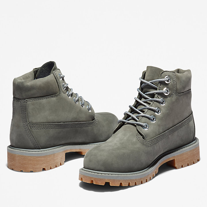 Premium 6 Inch Boot for Junior in Dark Grey-