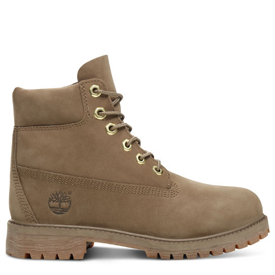 Premium 6 Inch Boot for Junior in Dark Beige | Timberland