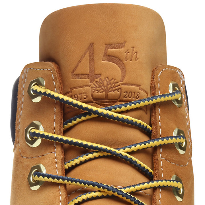 45th Anniversary 6 Inch Boot for Juniors in Yellow/Navy-