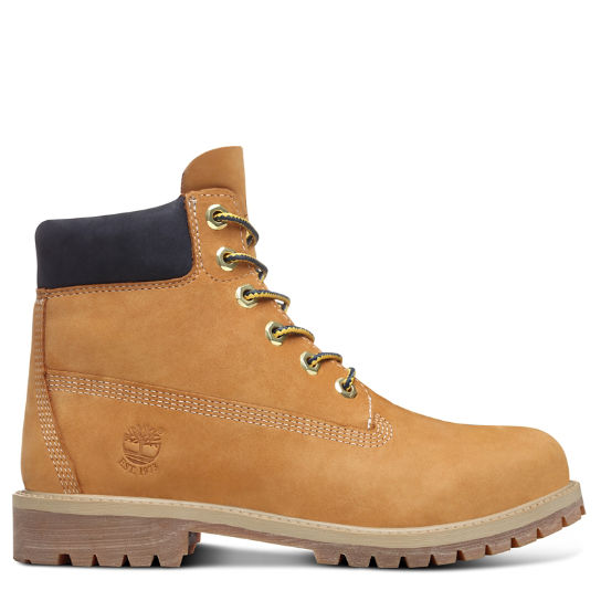 45th Anniversary 6 Inch Boot for Juniors in Yellow/Navy | Timberland