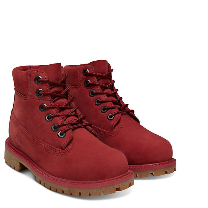 Premium 6 Inch Boot for Youths in Red-