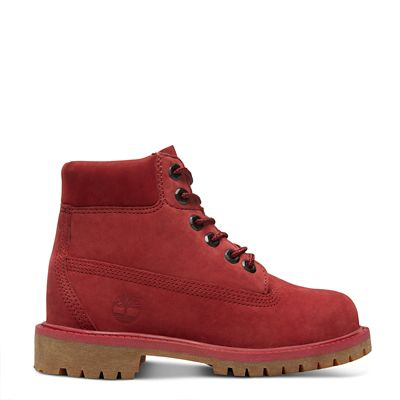 Premium+6+Inch+Boot+for+Youths+in+Red
