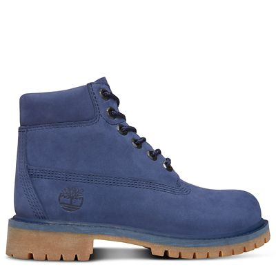 Premium+6+Inch+Boot+for+Youths+in+Blue