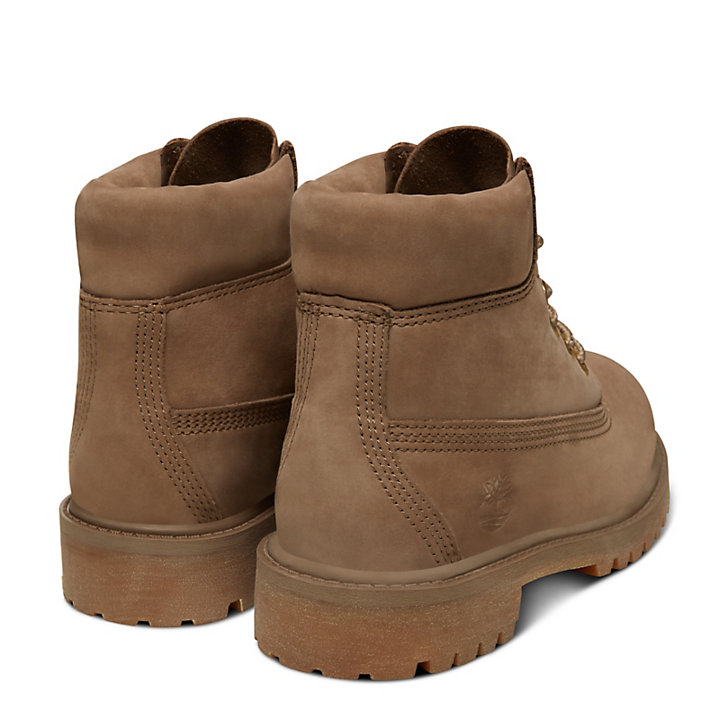 Premium 6 Inch Boot for Youths in Greige-