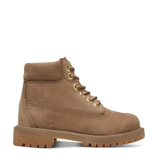 Premium 6 Inch Boot for Youths in Greige | Timberland