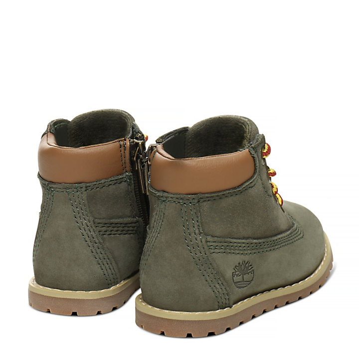 Pokey Pine 6 Inch Boot for Toddler in Green-