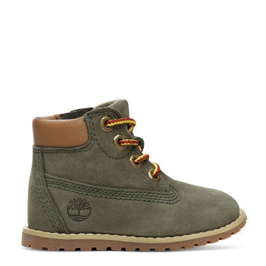 Pokey Pine 6 Inch Boot for Toddler in Green | Timberland