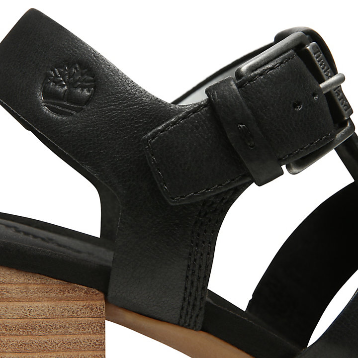 Tallulah May T-Band Sandal for Women in Black-