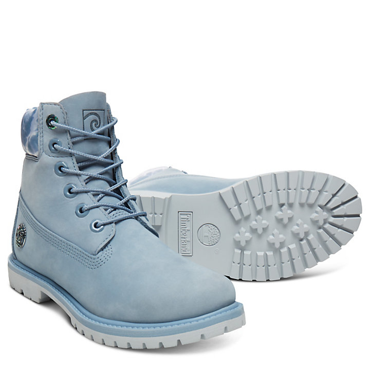 6 Inch Boot Water for Women in Blue-