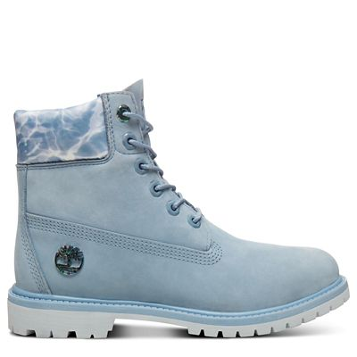 6+Inch+Boot+Water+for+Women+in+Blue