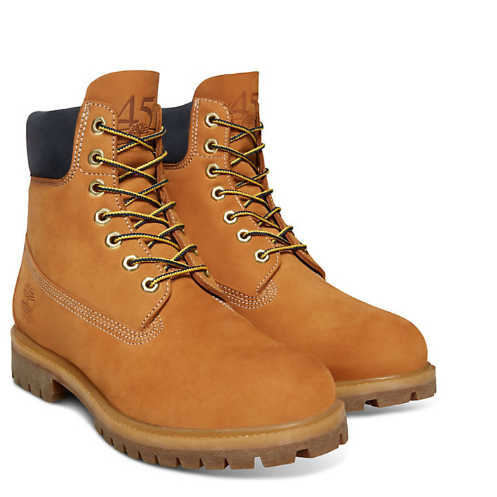 45th Anniversary 6 Inch Boot for Men in Yellow/Sapphire-