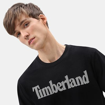 Linear+Logo+T-Shirt+for+Men+in+Black