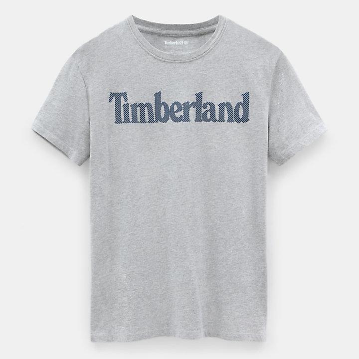 Linear Logo T-Shirt für Herren in Grau-