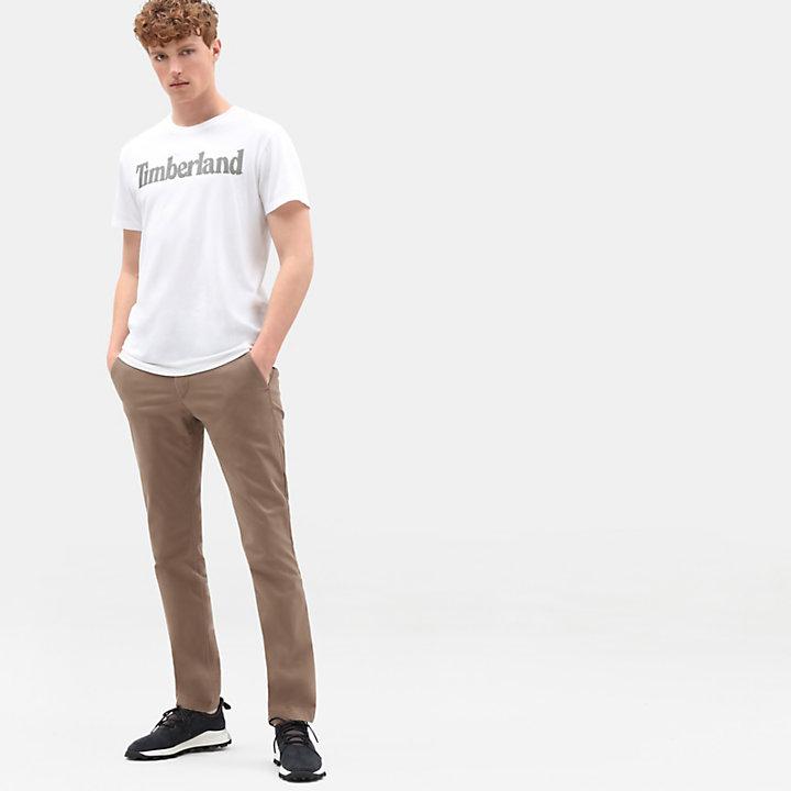 Linear Logo T-Shirt for Men in White-