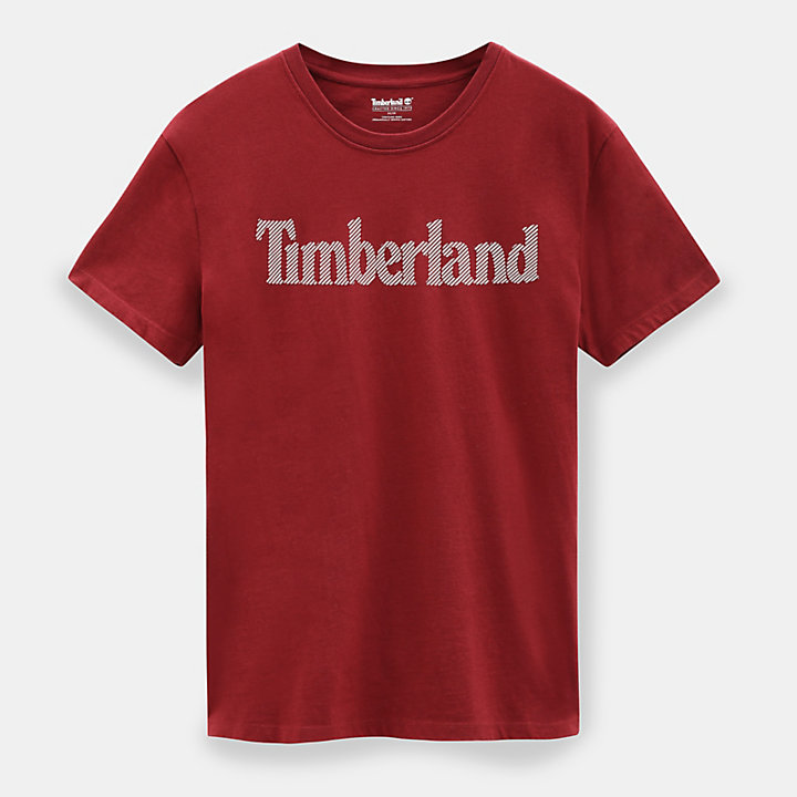 Linear Logo T-Shirt for Men in Red-