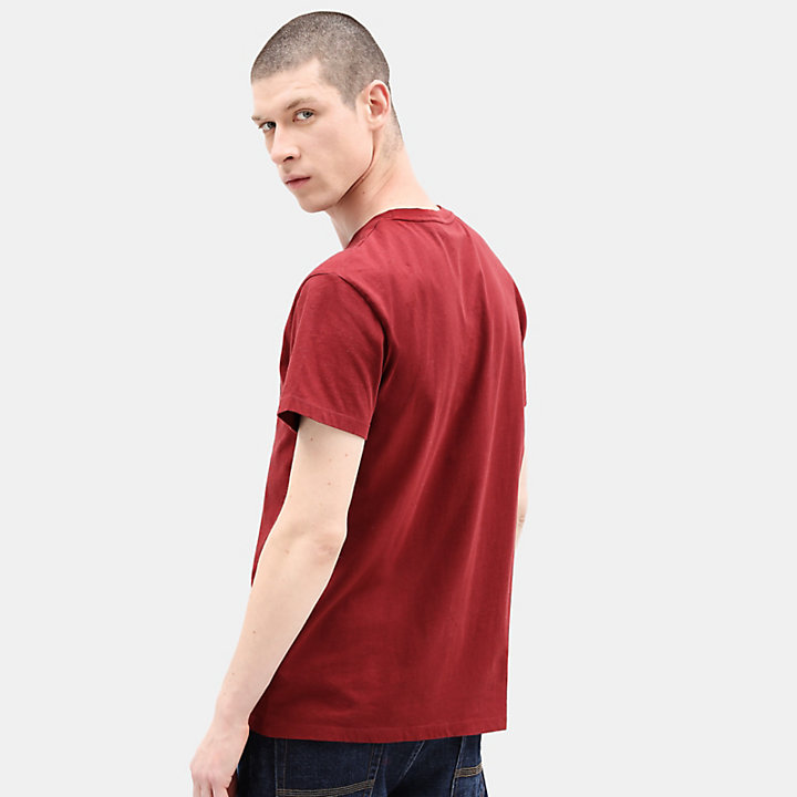 Linear Logo T-Shirt für Herren in Rot-