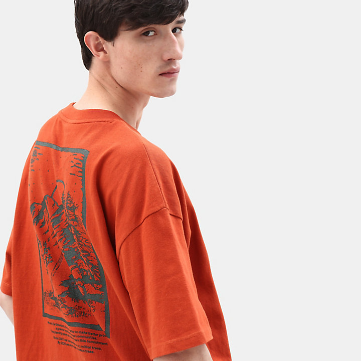 Outdoor Inspired T-Shirt für Herren in Rot-