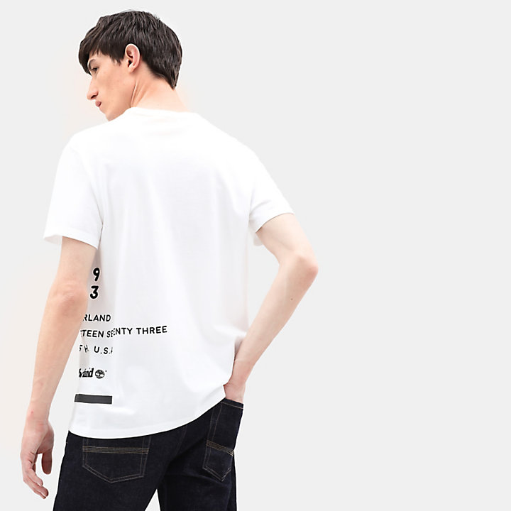 Reflective T-Shirt for Men in White-
