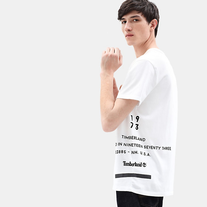 Reflecterend T-shirt voor Heren in wit-