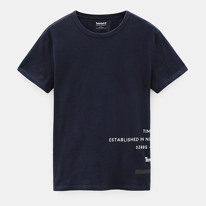 Reflective T-Shirt for Men in Navy-