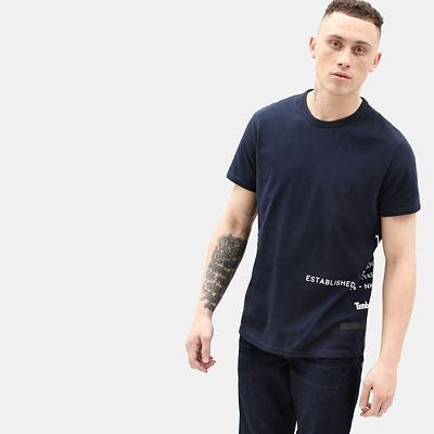 Reflective+T-Shirt+for+Men+in+Navy