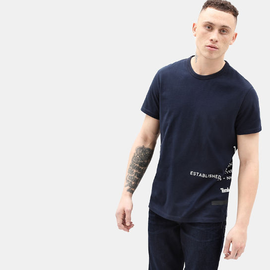 Reflective T-Shirt for Men in Navy | Timberland