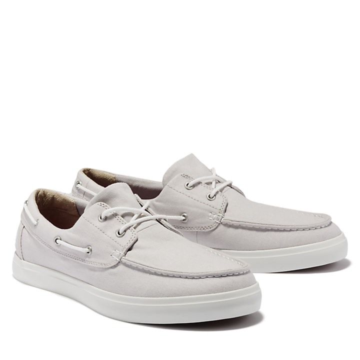 Union Wharf Boat Shoe for Men in Pale Grey-