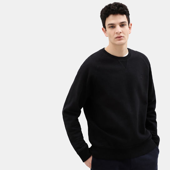 Exeter River Crew Sweatshirt for Men in Black | Timberland