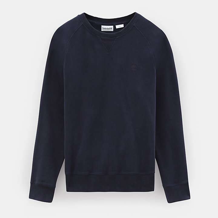 Exeter River Crew Sweater voor Heren in marineblauw-