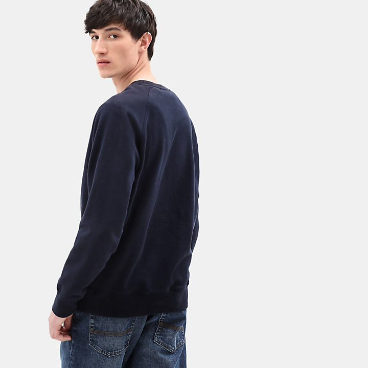Exeter River Crew Sweatshirt for Men in Navy-