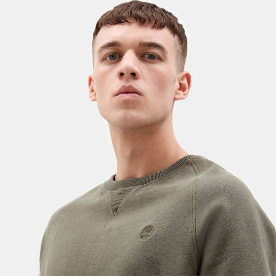 Exeter River Crew Sweatshirt for Men in Green | Timberland