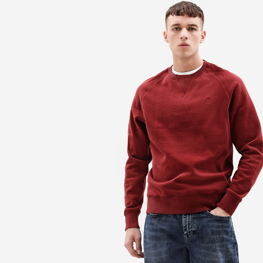 Exeter River Crew Sweatshirt for Men in Dark Red | Timberland