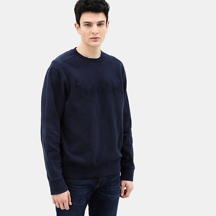 Taylor River Sweatshirt voor Heren in marineblauw-