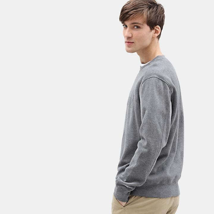 Taylor River Crew Neck Sweatshirt for Men in Dark Grey-