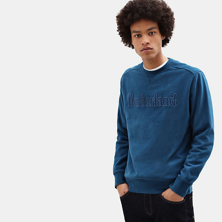 Taylor River Crew Neck Sweatshirt for Men in Blue-
