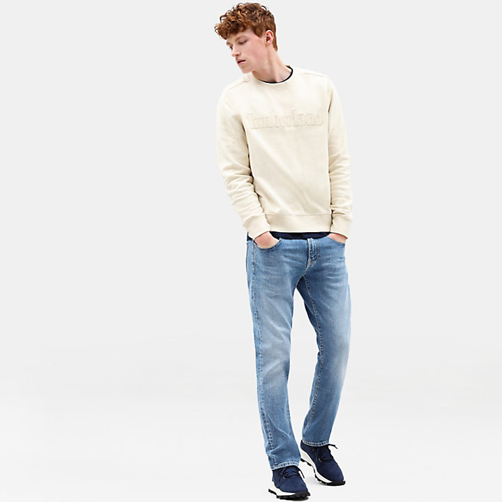Taylor River Crew Neck Sweatshirt for Men in Light Grey-