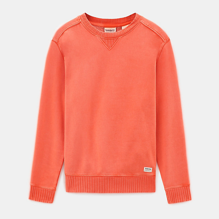 Mad River Crew Neck Sweatshirt voor Heren in oranje-