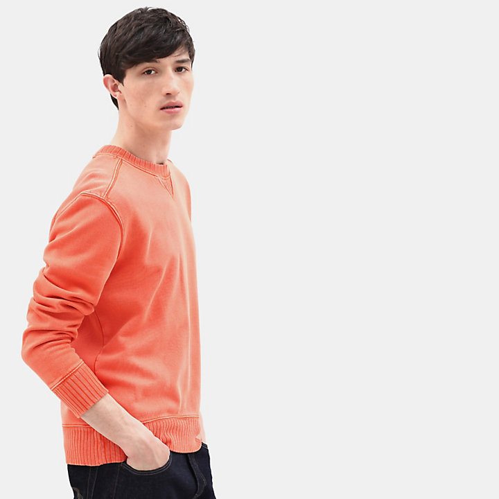 Sweat à col ras-du-cou Mad River pour homme en orange-