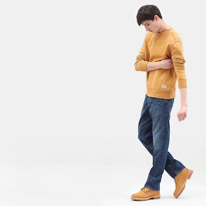 Sweat à col ras-du-cou Mad River pour homme en jaune-